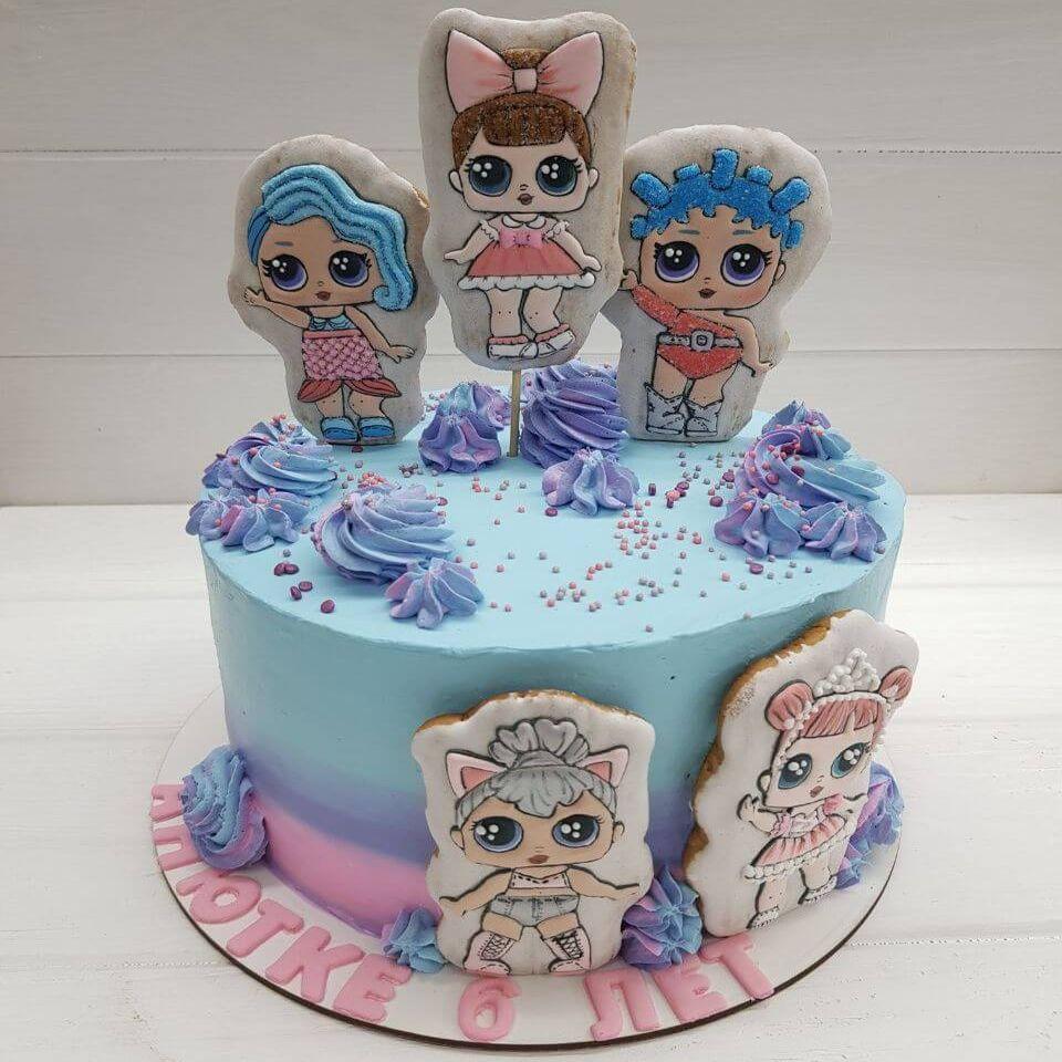 Детский торт Куколки ЛОЛ